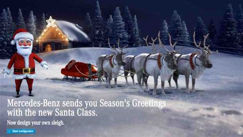 Mercedes In Santa by How To Send A Mercedes Santa E Card To Your