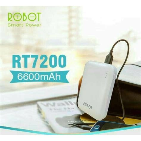 Robot Rt7100 6600mah 2 Usb Ports Power Bank White Paling Dicari kiozorenz powerbank robot rt7200 6600mah 2 usb led power bank vivan original robot original