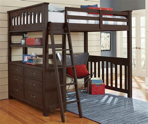 wooden loft bed full size full size loft bed with desk plans best home furniture