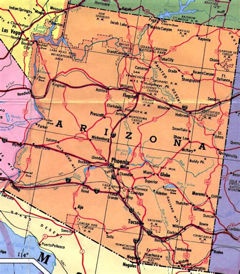 arizona state on us map arizona mediumhistorica