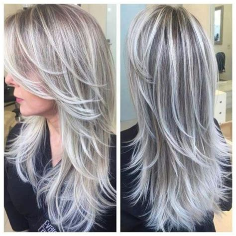 partial silver highlights amazing grey silver highlights the haircut web