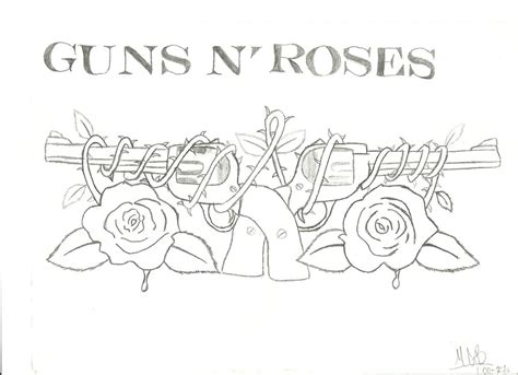 guns and roses coloring page guns n roses logo by dani cali180 on deviantart