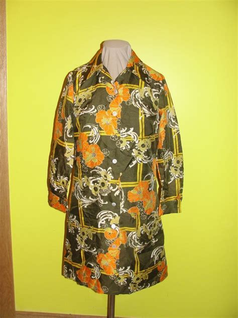 Gs Button Dress orange flower button front coat dress from hodgepodgelodge on ruby