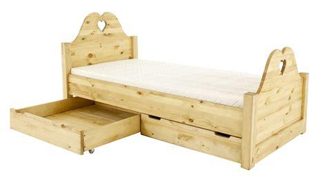 lit avec rangement 1 personne en pin massif style montagne