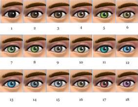 eye colors list pics for gt eye colors list