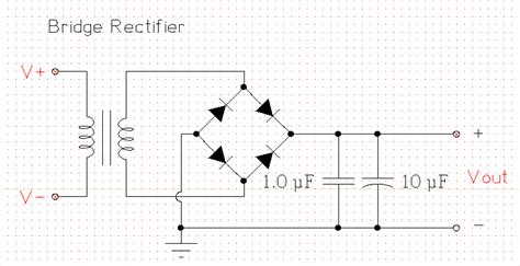 bridge rectifier circuit diagram not a dc rectifier power supply schematic diagram using
