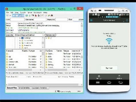 filezilla for mobile wifi send receive files from android mobile to pc