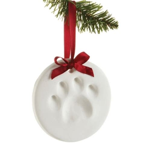 pawprints paw impression christmas ornament kit for dog