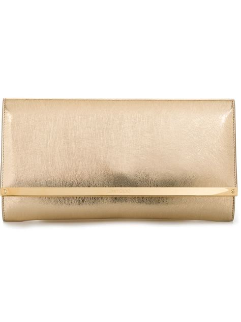 Jimmy Choo Shimmer Calfskin Clutch by Lyst Jimmy Choo Milla Clutch Calf Leather