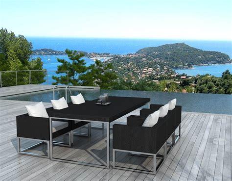 tables de jardins salon de jardin design 1 table 6 fauteuils