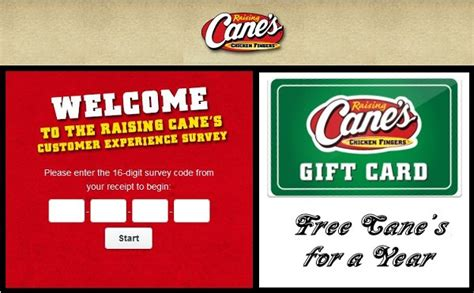 Canes Sweepstakes 2017 - raising cane s survey sweepstakes sweepstakesbible