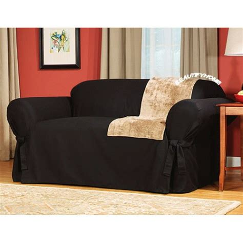 black couch slipcover high quality slipcovers for sofa beds 13 black leather
