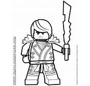Ninjago Cole KX Holding Elemental Weapon Coloring Page  H