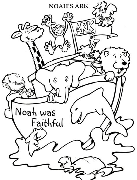 coloring book pages of noah s ark pages noahs ark story coloring pages