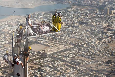 daredevils complete base jump from tip of world's tallest