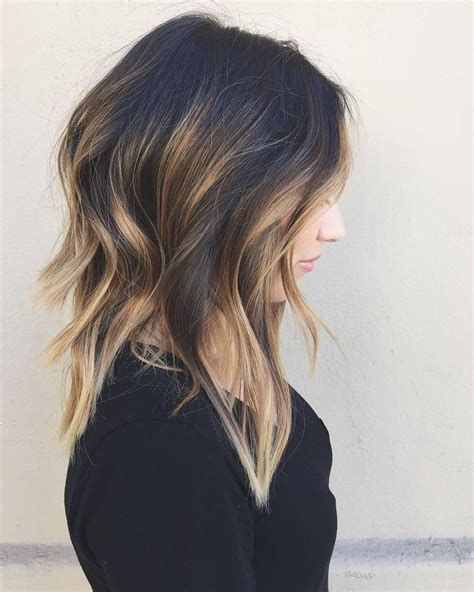 highlights for black hair and layered for ladies over 50 best 25 balayage on dark hair ideas on pinterest
