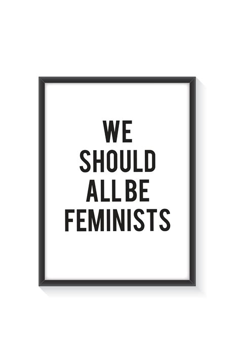 we should all be 0008115273 poster with frame we should all be feminists wall art prints shop