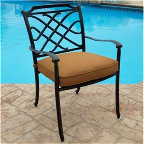 agio willowbrook transitional alumicast outdoor dining arm