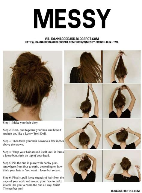 buns hairstyles how to how to do a messy bun hair pinterest