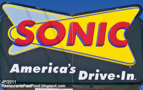 sonic food restaurant fast food menu mcdonald s dq bk hamburger pizza
