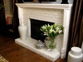white brick fireplace decorating ideas