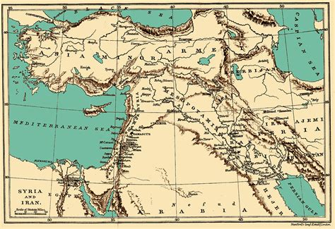 map of iran and syria maps muhammadanism org