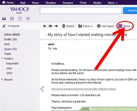 Search Yahoo Email How To Find A Yahoo Email Address 5 Steps With Pictures