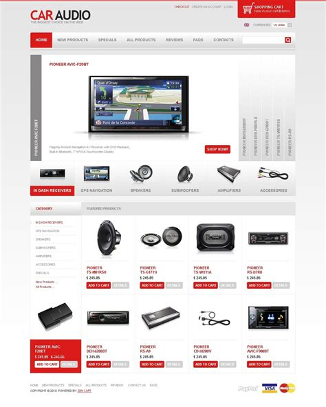 Car Audio Zencart Template Web Design Templates Website Templates Download Car Audio Zencart Speaker Website Templates