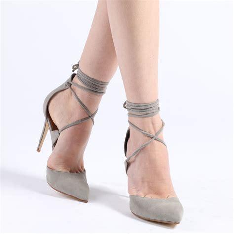 High Grey hailey high heels in grey faux suede desire