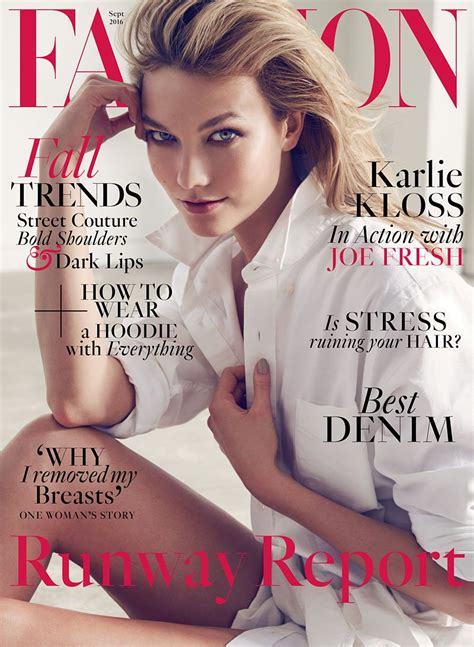 To Be A Magazine Cover Model by Fashion Magazine September 2016 Cover Karlie Kloss