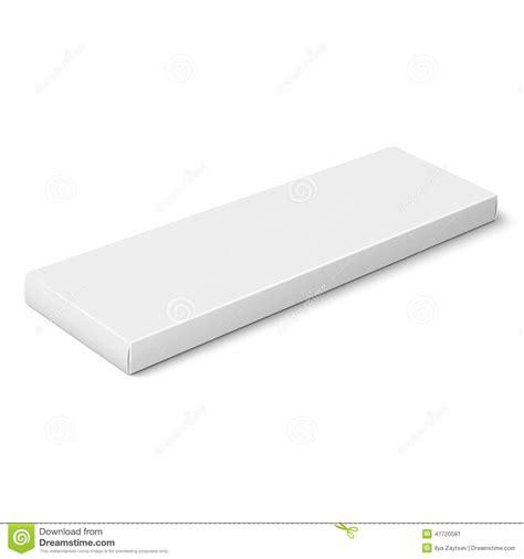 slim template white slim paper box template stock vector image 47720581