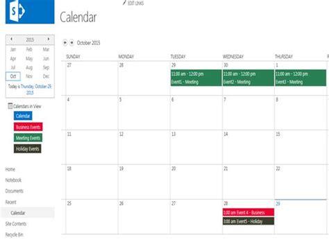 color coding sharepoint calendar events color coding calendar events based on category in
