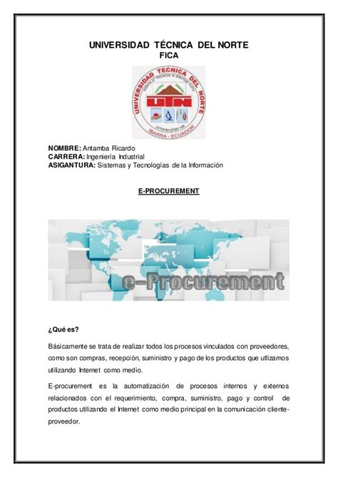 Mba Universidad Norte by E Procurement