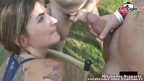 Erocom German Hardcore Cum Swapping Porn Party With