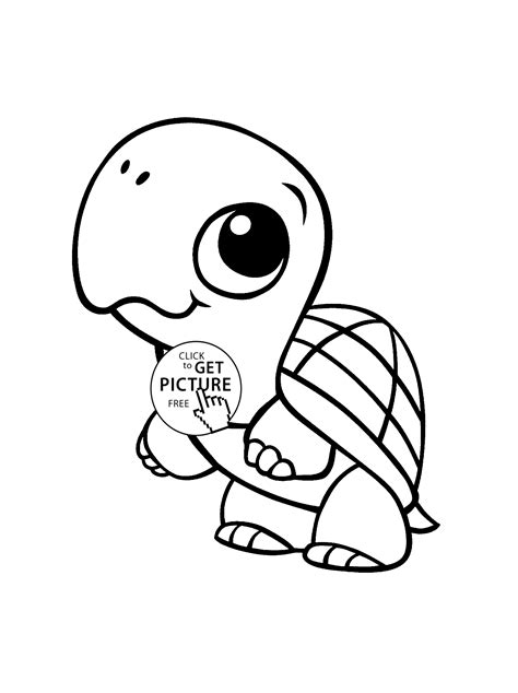baby turtle animal coloring page for baby animal coloring pages printables free wuppsy