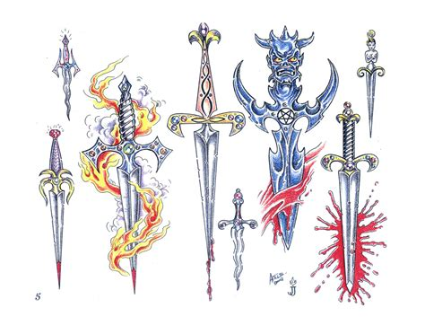 daggers swords free tattoo ideas ct ma vt nh me ri designs