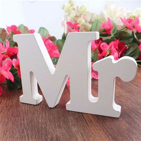 letters for table decorations english letters mr mrs wedding decoration present table