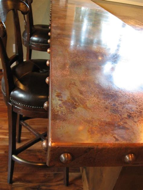 metal bar top heavy metal works copper bar counter top home decor