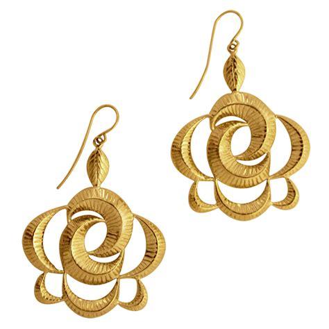 earrings design attractive earrings gold design on eid ul azha 2014 gold
