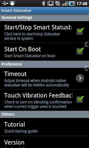 android status bar smart statusbar gives you easy statusbar access in screen apps