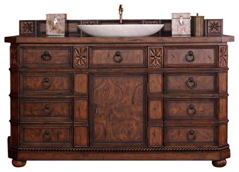 Traditional Bathroom Vanities And Cabinets by Regent 60 Quot Single Vanity Cabinet Burl No Top