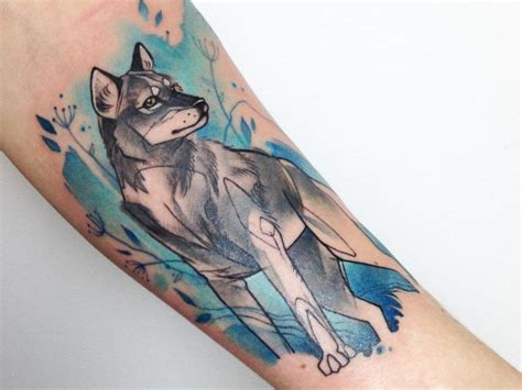 watercolor tattoos wolf 25 and mysterious watercolor wolf tattoos tattoozza