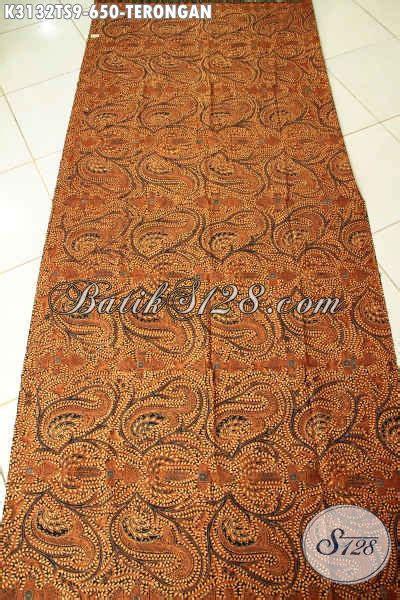 Kain Batik 72 Premium Soga 1 batik kain motif terongan batik mewah tulis soga