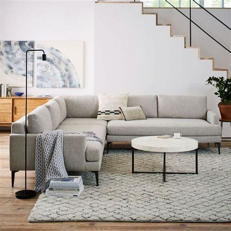gray l shaped sectional u shaped sectional in taupe