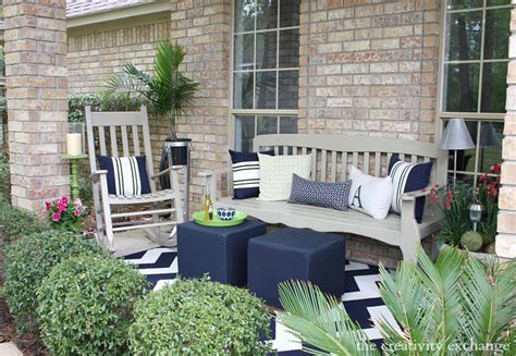 Front Porch Patio Set 20 Front Porch Makeovers How To Nest For Less