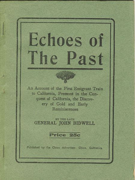 echoes of the past an account of the emigrant
