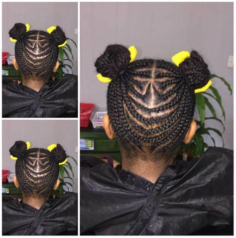 braided cornrows  buns   black girls