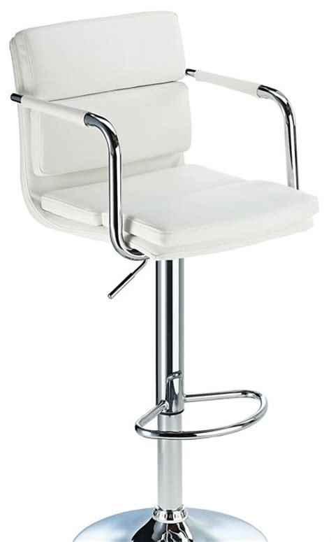 white bar stools with backs and arms primosy white kitchen breakfast bar stool with arms and back