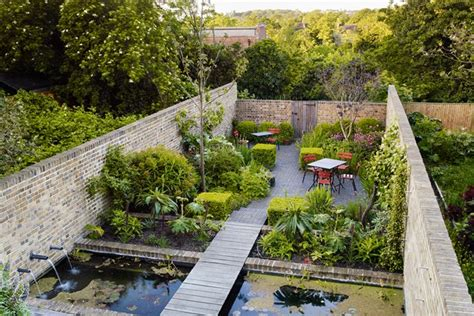 Small Walled Garden Design Ideas Walled Garden Pond Outdoor Seating Small Garden Ideas Houseandgarden Co Uk