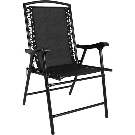 Sling Folding Chairs by Sunnydaze Decor Black Sling Folding Lawn Chair Dl